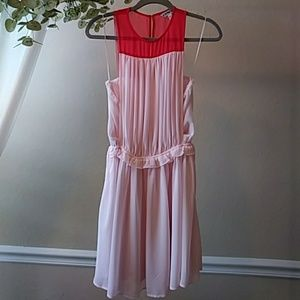 Express Pink and Red Dress